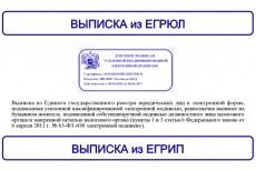 Срочная выписка из егрюл, егрип с ЭЦП 23 - kwork.ru