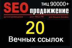 """20 """"жирных"""" вечных ссылок, средний Тиц > 3300, качественные доноры 7 - kwork.ru"""