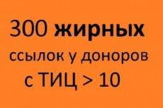 20 неприлично жирных ссылок. Общий ТИЦ трастов 150.000+ 20 - kwork.ru