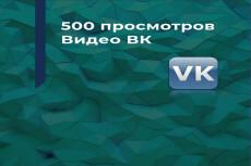 Продвину 2000 просмотров к вашей записи Вконтакте 19 - kwork.ru
