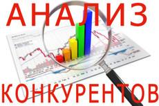 Поисковый анализ 5 конкурентов в ТОПе 22 - kwork.ru