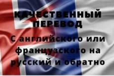 Выполню перевод текста с французского на русский язык 22 - kwork.ru