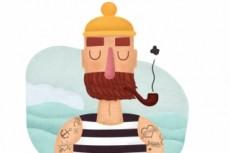 Нарисую векторный персонаж или flat портрет 13 - kwork.ru