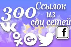 250+ соц. сигналов с вашего сайта живыми людьми 6 - kwork.ru