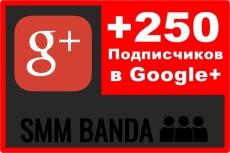 250 подписчиков или вступлений в сообщество Google+ гугл 13 - kwork.ru