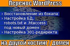 Перенесу Вордпресс на другой домен, хостинг 8 - kwork.ru