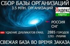 Соберу свежую базу компаний - Email, тел., сайт 6 - kwork.ru