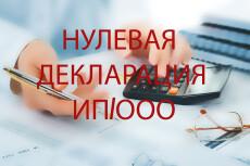 Нулевая декларация и отчетность в для ИП и ООО 5 - kwork.ru