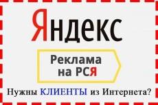 Настройка Яндекс Директ. 50 ключевых слов. Поиск, РСЯ 7 - kwork.ru