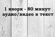 Транскрибация, расшифровка. Переведу в текст час звука с аудио,видео 19 - kwork.ru