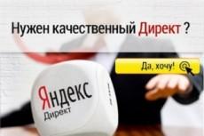 Грамотно настрою рекламную кампанию в Яндекс.Директ (100 объявлений) 23 - kwork.ru