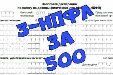 Заполню 3НДФЛ на возврат подоходного налога. Принимают с первого раза 8 - kwork.ru