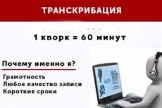 Транскрибация, качественно и грамотно переведу Ваш текст из аудио 13 - kwork.ru