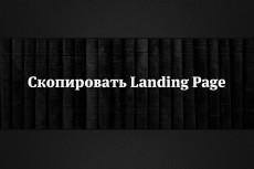 Сделаю копию Landing page, одностраничный сайт 65 - kwork.ru