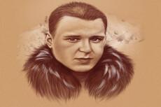 Портрет с неоновым эффектом 26 - kwork.ru