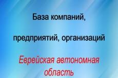 База компаний, предприятий, организаций Московской области 19 - kwork.ru