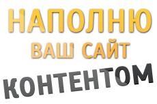 Наполню ваш сайт тематическим контентом 53 - kwork.ru