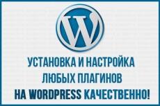 Установлю и настрою Wordpress и установка и настройка плагинов 12 - kwork.ru