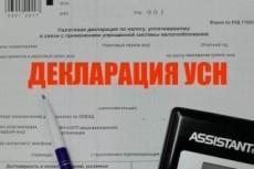 Подготовка декларации по УСН, объект налогообложения доходы 7 - kwork.ru