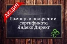Помогу получить сертификаты Яндекс Директ и Яндекс Метрика 9 - kwork.ru