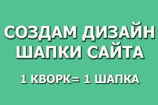 Дизайн шапки сайта 19 - kwork.ru