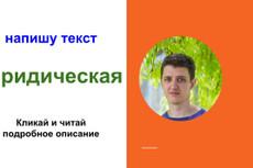 Напишу аргументированные юридические тексты 5 - kwork.ru