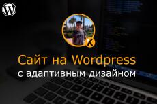Создам сайт на WordPress с уникальным дизайном 19 - kwork.ru