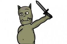 Создам рисованного мультяшного персонажа 18 - kwork.ru