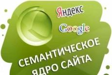 Соберу семантическое ядро для сайта 6 - kwork.ru