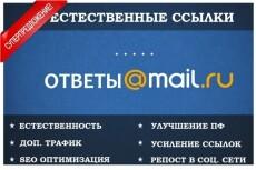 Размещение 10 естественных ссылок в сервисе ответов Mail. Ru 9 - kwork.ru