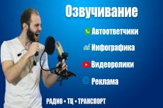 Озвучу ваш текст или видео или иное 30 - kwork.ru