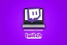 Оформлю twitch канал 49 - kwork.ru