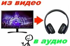 Сниму звук с видео и запишу его в отдельный файл MP3 4 - kwork.ru