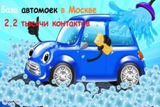 База контактов Москва и область 400000 26 - kwork.ru
