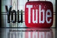 1000 репостов видео YouTube в соц. сети 7 - kwork.ru