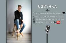 Озвучу любой текст. Профессиональный диктор 6 - kwork.ru