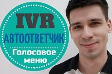 Озвучу автоответчик, голосовое меню, IVR 10 - kwork.ru