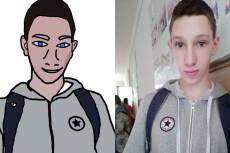 Нарисую портрет в фотошопе 17 - kwork.ru