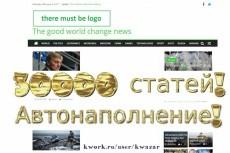 Продам сайт СМИ + 8000 контента, автонаполнение, english 6 - kwork.ru