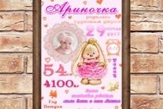Метрика, детская метрика 18 - kwork.ru