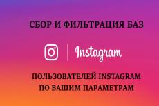Сбор и фильтрация баз пользователей в Instagram по вашим критериям 14 - kwork.ru