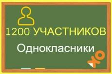 1000 +100 живых участников в группу Одноклассники 7 - kwork.ru