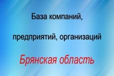 База компаний, предприятий, организаций Московской области 23 - kwork.ru
