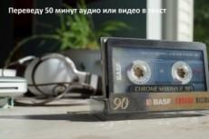 Транскрибация. Расшифровка аудио, видео в текст 16 - kwork.ru