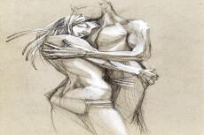 Рисую иллюстрации в фотошопе карандашом, акварелью, ручками 65 - kwork.ru