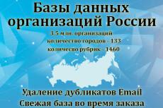 База предприятий и организаций России, юридических лиц, юрлиц 7 - kwork.ru
