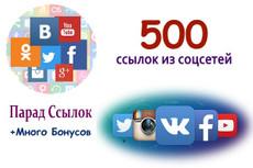 205 ссылок из соц. сетей 21 - kwork.ru