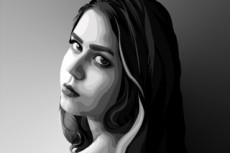 Создам стилизованный векторный портрет 18 - kwork.ru