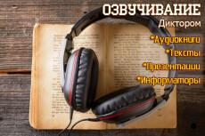 Сделаю дикторскую начитку 24 - kwork.ru