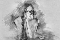 Нарисую портрет по фотографии от руки карандашом 14 - kwork.ru